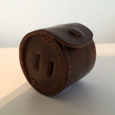 Vintage Brown Leather Camera Lens Hood Case