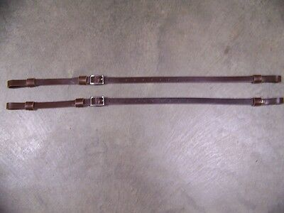 Leather Luggage Straps for Luggage Rack Carrier 2 pc Set 3/4 Inch Wide Brown SS