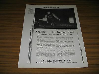 1930 Print Ad Parke Davis Roentgen Discovers the X-ray Makes Cancer Curable