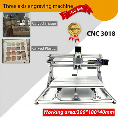 3 Axis CNC 3018 Wood Engraving Carving PCB Milling Machine Router Engraver