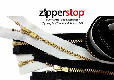 Brass Metal Zippers YKK Number 3 Separating Zippers Made in USA