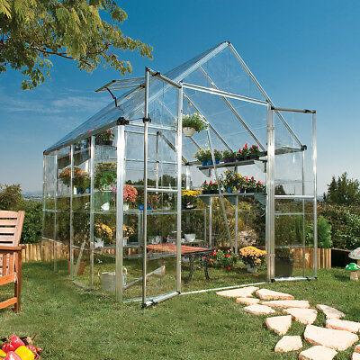 Palram Silver 8ft. x 8-ft. Snap and Grow Greenhouse