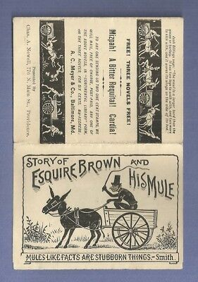 Pamphlet QUACK MEDICINE DR BULL'S COUGH SYRUP Story of Esquire Brown & His Mule