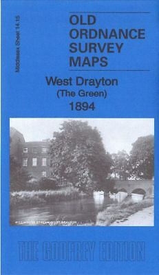 Old Ordnance Survey Map West Drayton The Green 1894 & 1935 Swan Inn Iver