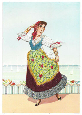 ITALY Emilia - Romagna Traditional Trescone Dance, Embroidered Dress Postcard