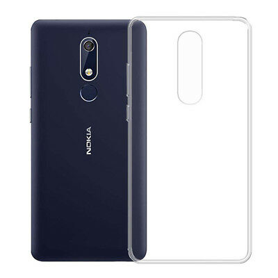 For Nokia 5.1(2018) Ultra Slim Clear TPU Silicone Soft Case Skin Protector Cover