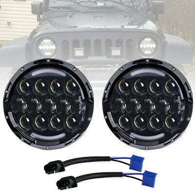 """105W Osram 7"""" LED Headlight with White/ amber Turn Signal DRL for Jeep Wrangler"""