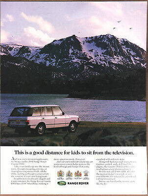 """1993 Range Rover Ad """"This is a good distance..."""" Print Ad"""