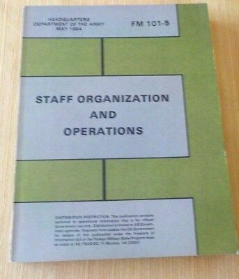 US Army  Staff Organization Book May 1984