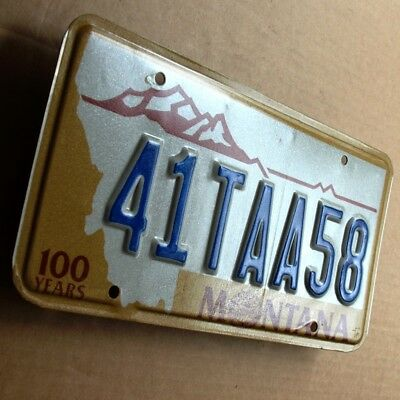MONTANA 1989 = Altes Blech Nummernschild TRAUMZUSTAND USA License Plate 41TAA58