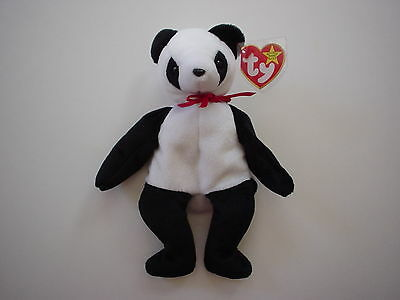 Fortune the Panda Beanie Baby Soft Plush Bear Mint Tags 1997 Dec. Birthday Gift