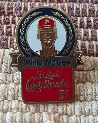 Willie McGee 51 St. Louis Cardinals lapel pin pre-owned