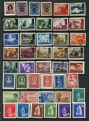 CROATIA--Lot of 59 different stamps
