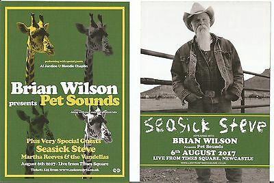 Brian Wilson (of Beach Boys) Pet Sounds  Seasick Steve  Martha Reeves  Flyer x 3