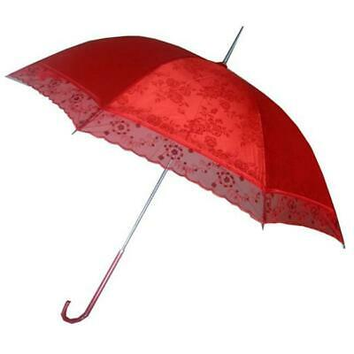 Conch Umbrellas 5012 44 in. Red Lace Umbrella For Chinese Wedding Wedding Events