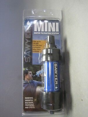 Sawyer Mini Water Filtration System New & Unopened Ultralight Backpacking Safety