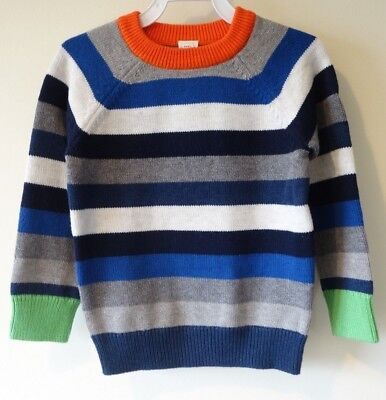 NWT Baby Gap Pullover Striped Sweater Boy's Size 4/4T