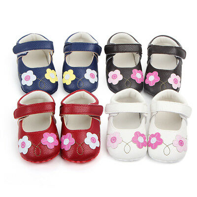 Baby Girls Newborn Infant Baby Soft Shoes Flower First Walker Toddler Shoes