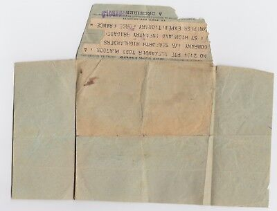 WW1 French Telegram 1/6th Seaforth Highlanders Scots Infantry BEF France