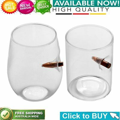 Bullet Whisky Bar Wine Crystal Glass Cup Bullet Vodka Shot Wine Glass Cups FG