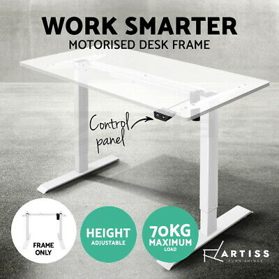 Artiss Height Adjustable Standing Desk Frame Electric Motorised Office Table WH