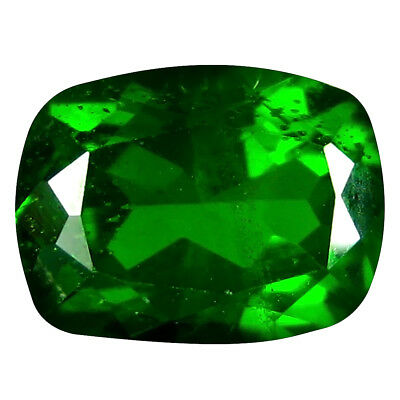 1.42 ct AAA+ Incomparable Cushion Shape (8 x 6 mm) Green Chrome Diopside