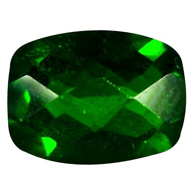 1.44 ct AAA+ Mind-Boggling Cushion Shape (8 x 6 mm) Green Chrome Diopside