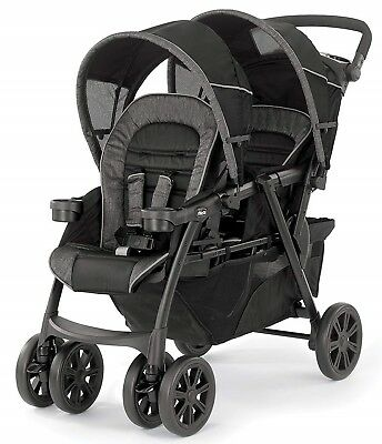 08079043020070Chicco Cortina Together Twin Baby Double Stroller Minerale NEW