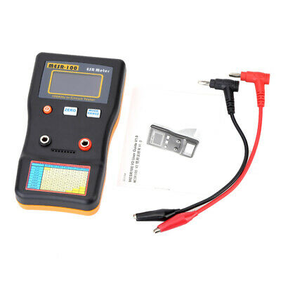 MESR-100 Meter Capacitance Resistance Capacitor Circuit Tester with 2 Test Clips