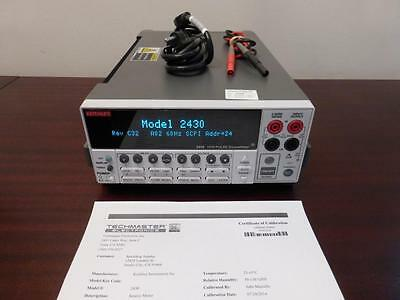 Keithley 2430 1kW Pulse Mode SourceMeter w/ Measurements up to 100V & 10A, CAL'D