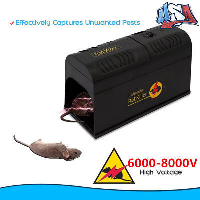 New Electronic Mouse Trap Control Rat Killer Pest Electric Zapper Rodent