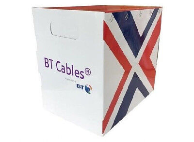 NEW BT WHITE CAT5e UTP CCTV Cable Solid Full Ethernet PURE Copper 305m Reel Box