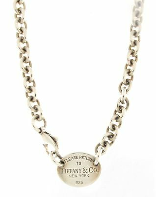 "Tiffany & Co. Silver Rolo Necklace .925 Sterling Silver 16"" Inch"