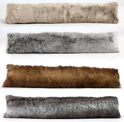 Luxury Faux Fur Draught Excluder Under Door Excluder - Single or 2 Pack