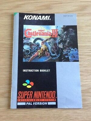 Super Castlevania Iv * Original Manual * Super Nintendo / Snes * Vgc * Pal *
