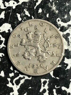 1924 Czechoslovakia 50 Haleru Lot#X8584