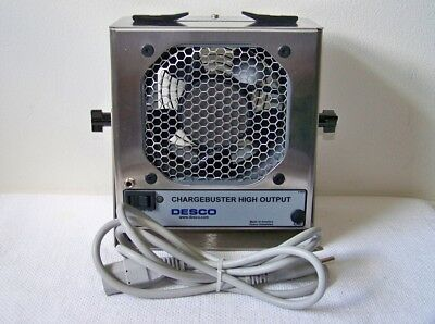 DESCO INDUSTRIES 60500 Chargebuster High Output IONIZER Fan w/P-8804 Cartridge