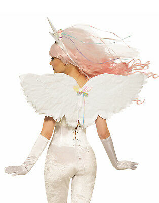 Unicorn Womens Adult Costume Mythical Creature White Wings