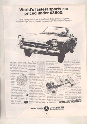 1966 Sunbeam Tiger Magazine Ad wz6387