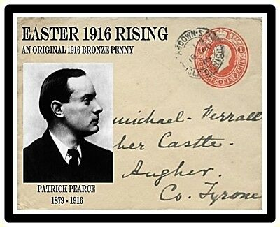 Ireland Easter 1916 Commemorative Card & Coin,  Patrick Pearse