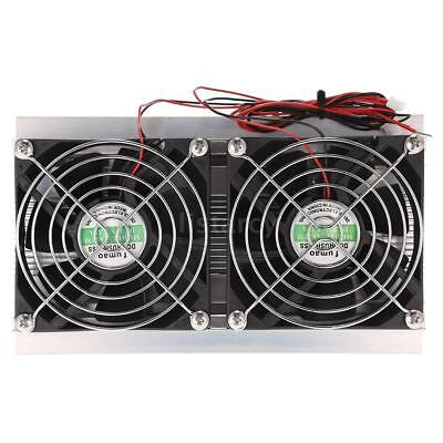 12V 10A Thermoelectric Peltier Refrigeration Cooling System Kit Double Fans P0X2
