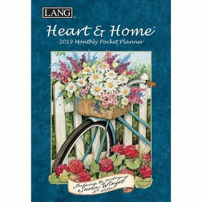 2019 Heart & Home Monthly Pocket Planner, Lang Folk Art by Lang Companies