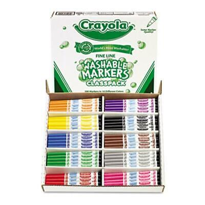 Crayola 588211 Washable Classpack Markers  Fine Point  Eight Assorted  200-Box