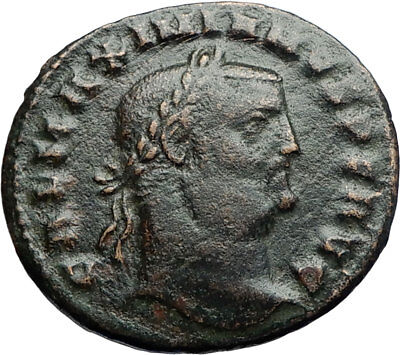 GALERIUS Authentic Ancient 308AD Cyzicus Genuine Follis Roman Coin GENIUS i71175