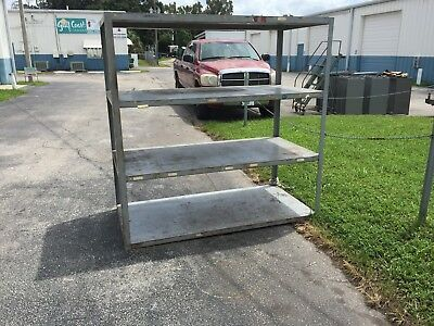 Extreme Duty Industrial Shelves. All welded metal 6' x 3' x 6' With beefy tube