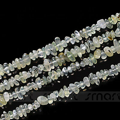 "Natural Prehnite Gem Gravel Loose Gemstone Beads 15.5"" Inches One Strand"