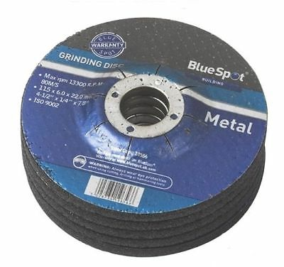 "10 PK 115mm METAL GRINDING DISC WHEEL 4.5"" 4 1/2"" 22MM BORE"