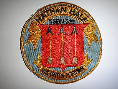6e85d4fa50e US NAVY USS NATHAN HALE SSBN-623 Submarine Patch - £7.84