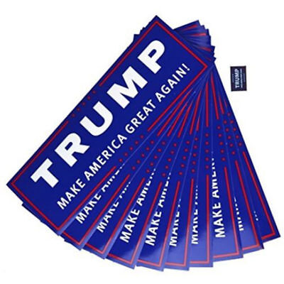 Donald Trump for President Make America Great Again Bumper Sticker 10 Pack Lot