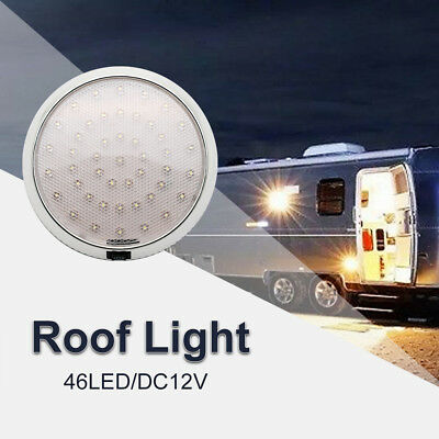 DC12V 46LED Down Light Cabin Ceiling Lamp Caravan/Camper Trailer/Car/RV White
